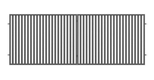 Zestaw brama dwuskrzydłowa, furtka, słupki i akcesoria  4,00m Luiza