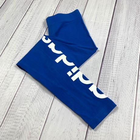 Лосины Adidas original леггинсы S спортивные женские синие легкие