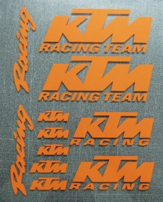 Kit Ktm Racing autocolantes