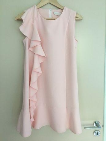 Sukienka koktajlowa By o la la, nowa, S(36), pudrowy roz
