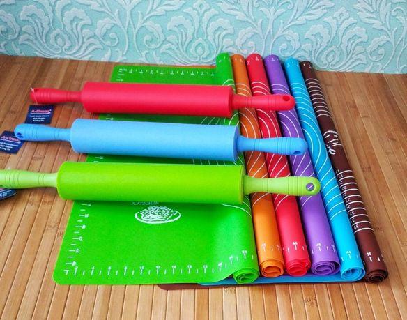 Комплект силиконовый коврик и скалка силиконовая 280, 00 грн