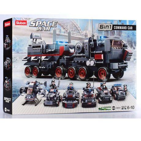 Конструктор SLUBAN военный транспорт 6 в 1, Слубан аналог Лего