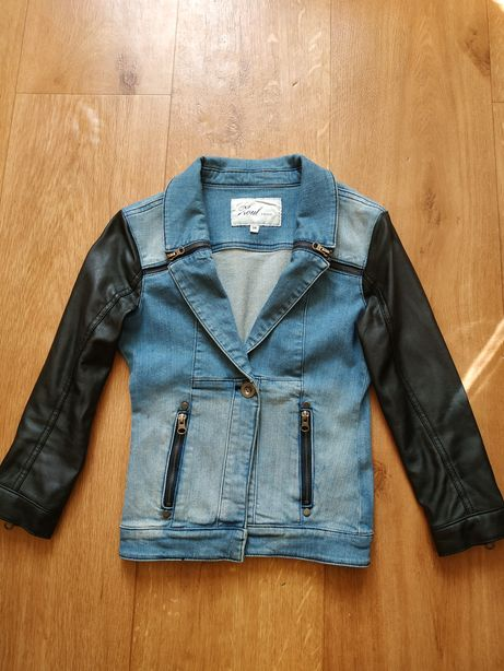 Продам пиджак, жакет, куртка джинсовая кожзам рукава бренд.
