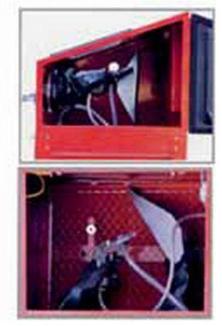 Tanque máquina decapagem peças c/ 220 lts, c/ luz interior