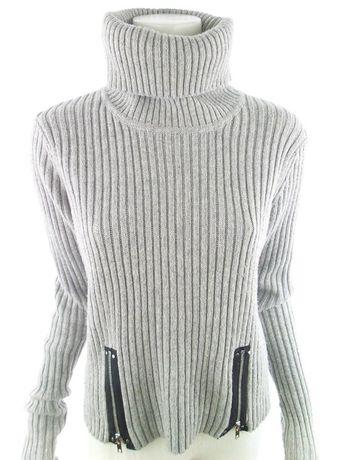 Jean Paul Gaultier Lindex rozmiar S Sweter Golf akryl szary