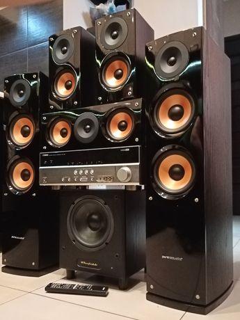 Kino domowe Yamaha Kolumny Pure Acoustics Subwoofer Aktywny Wharfedale