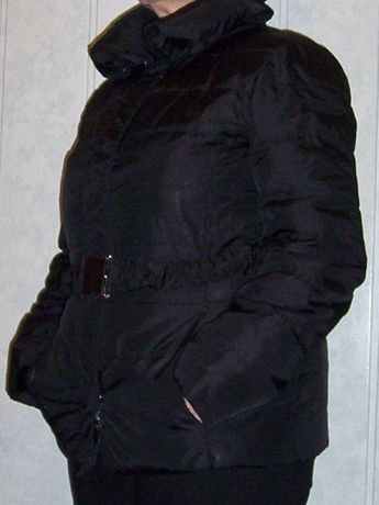 Czarna kurtka ocieplana - zamienię - kalendarz 2021 r gratis