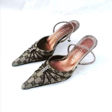 Туфли мюли GUCCI острый носок на шпильке Gucci