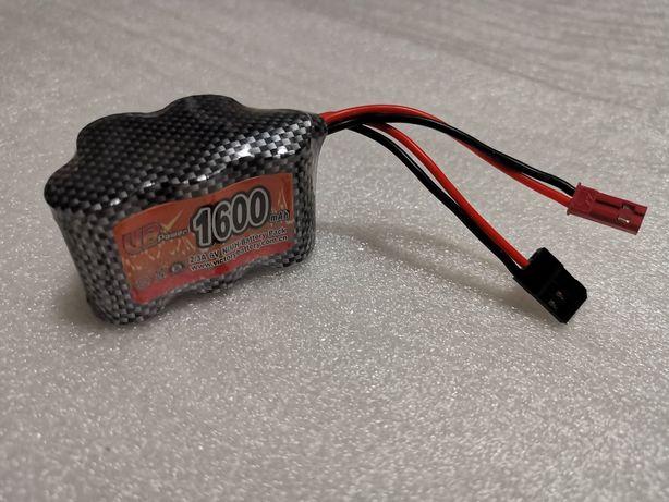 Bateria RC pirâmide Ni-MH 6V 1600mah para receptores de RC a combustão