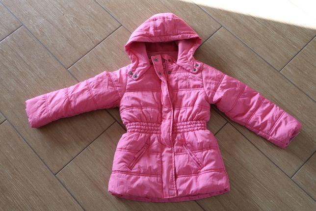 Kurtka zimowa dla dziewczynki w rozmiarze 122 cm