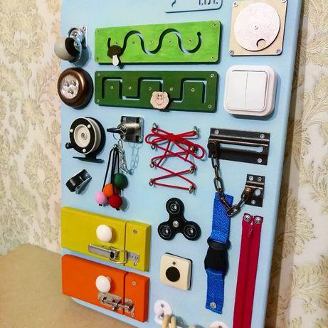 Бизиборд - лучший подарок для малыша! Развивающие игрушки. 60*40 см