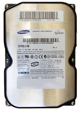 винт к компу samsung spinpoint p80 sp0612n 60Gb ata