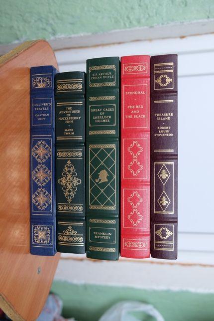 Книги на английском Franklin Library Свифт Твейн Стивенсон
