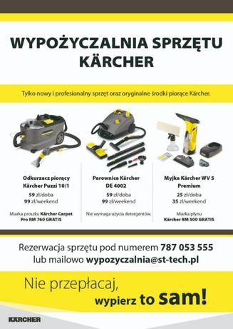 Odkurzacz piorący KÄRCHER PUZZI 10/1-doba59 zł wynajem, proszek gratis