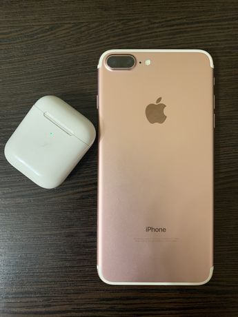 Iphone 7 plus 32gb gold rose, apple, айфон торг НЕ 6s 8plus X Xs Max