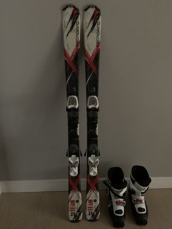 Narty 130 plus buty 245(282mm)