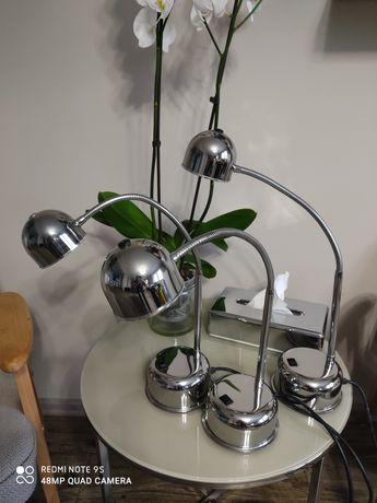 Lampki na biurko, chrom