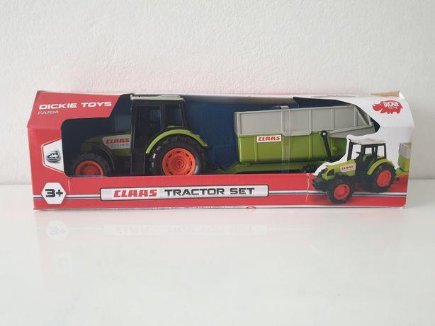Traktor z przyczepą Class Dickie Toys.