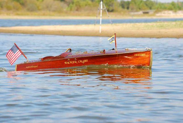 Barco rc (Lancha em madeira escala 1:4)
