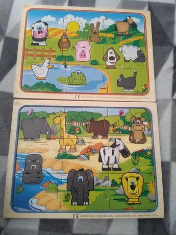Drewniane puzzle 3szt.