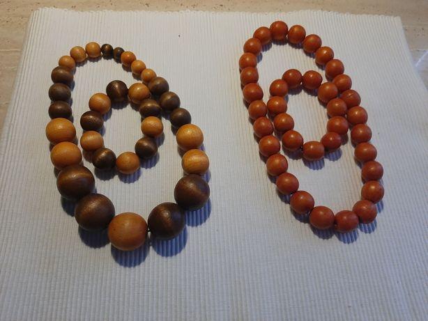 Drewniane korale i bransoletki +inne