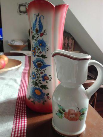 Fajans Włocławek, Lubiana piękny, duży wazon, wazonik gratis