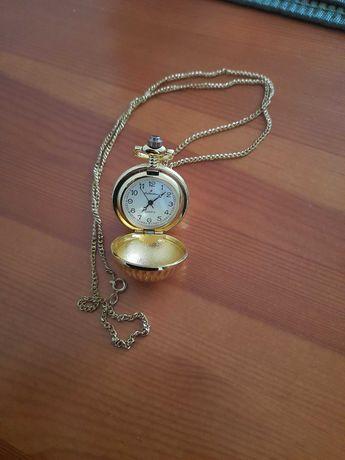 Zegarek na łańcuszku kieszonkowy kulka kula ozdobny