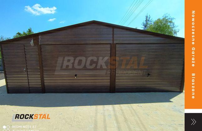 Garaż blaszany drewnopodobny - super cena - Rock Stal