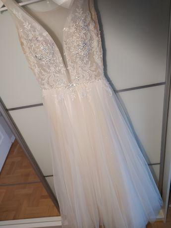 Suknia ślubna Pellina, brokatowy dół.