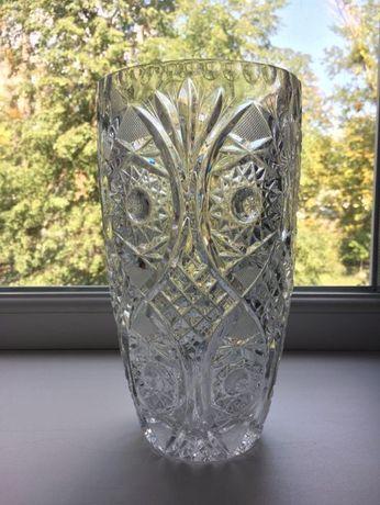 Большая ваза Bohemia, хрусталь времен СССР