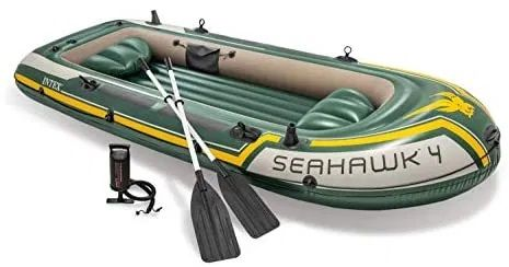 Intex Unisex - Zestaw pontonu dla dorosłych, zielono / żółty,