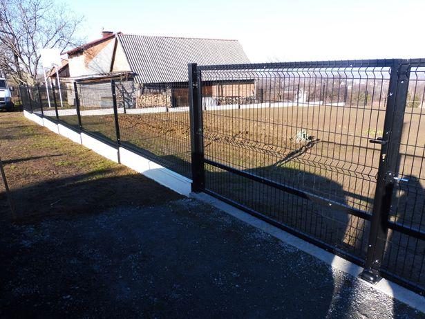 Słupek ogrodzeniowy 60x40x1,3 2,2m czarny