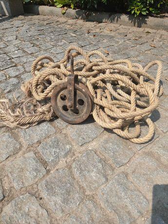 Corda em Sisal com roldana