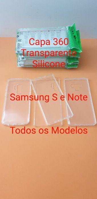 Capa 360 Transparente Silicone Samsung S e Note ( TODOS OS MODELOS )