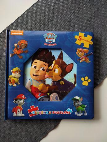 Psi patrol książka z puzzlami, 5 układanek