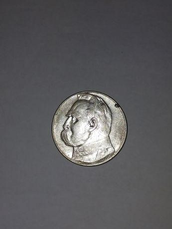 Десять злотих 1936 року Пілсудський,серебро