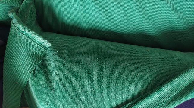 Sztruks poliestrowy 2x20mb zielony i beżowy cena za całość