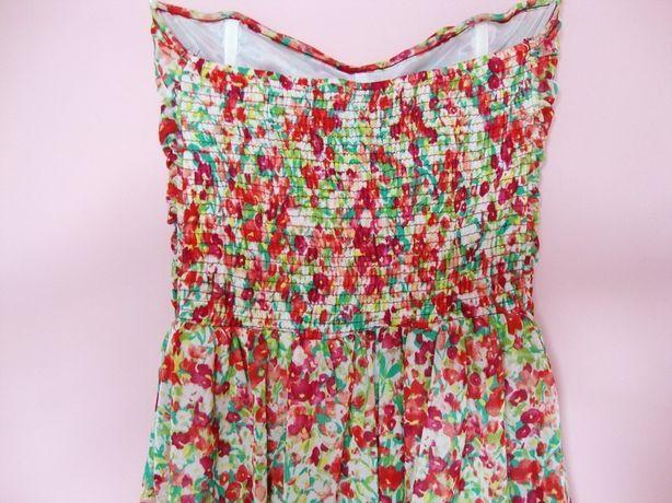 sukienka w kwiaty Bershka floral gorset rozmiar M