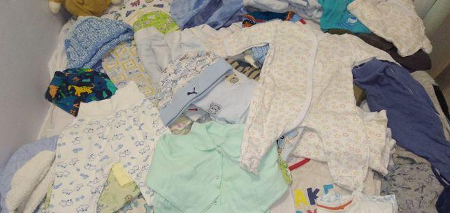 Пакет фирменных вещей на новорожденного мальчика, 34 шт,
