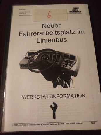 Informacja warsztatowa Nowe stanowisko kierowcy w autobusie Neoplan