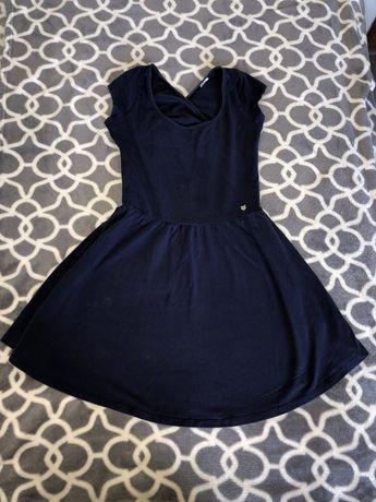 Sukienka letnia, bawełniana z odkrytymi plecami