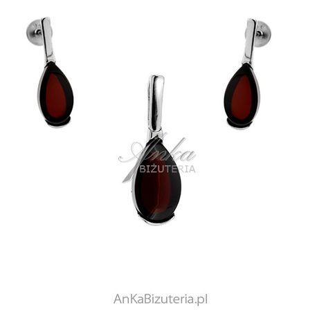 ankabizuteria.pl pierścionki z dużym oczkiem Komplet biżuteria srebrna