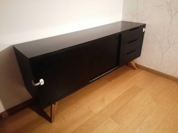 Aparador AREA, preto, 180x45cm