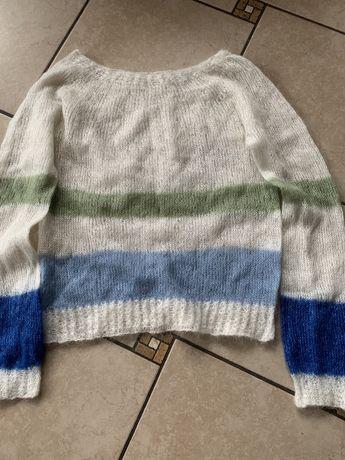Sweterek handmade, moher 36