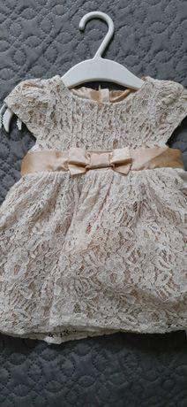 Sukienka elegancka 62 rozmiar chrzest/uroczystość