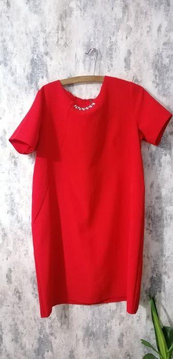 czerwona sukienka rozmiar 50 Ossówka - image 1