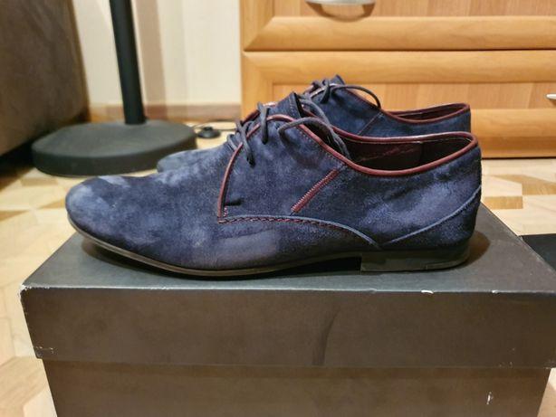 Pantofle granatowe Recman roz. 40