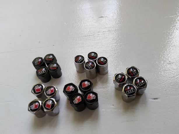 Nowe nakrętki na wentyle Audi s-linie różne 4szt czarne chrom