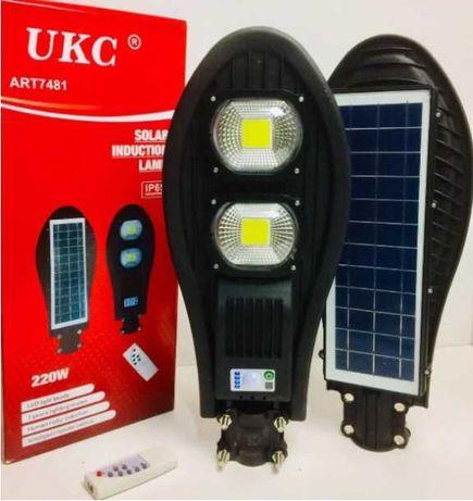 Уличный аккумуляторный светодиодный LED фонарь солнечной батарее 180W