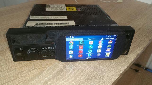 Магнитола андроид Android 1DIN Audi 100 A6 C4 самодельная
